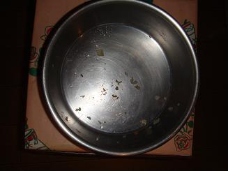 食べた後…こびりついたキャベツ